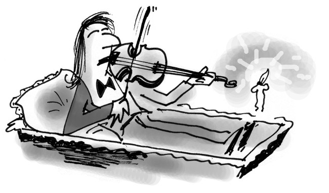 Dead musicians cartoon