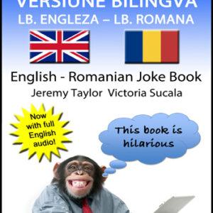 English Romanian Joke Book cover