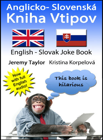 English Slovak joke book cover