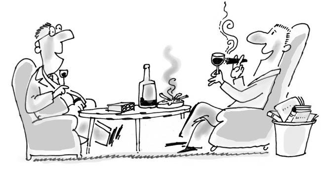 Smoking or drinking cartoon